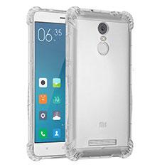 Custodia Silicone Trasparente Ultra Sottile Cover Morbida H01 per Xiaomi Redmi Note 3 MediaTek Chiaro