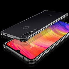 Custodia Silicone Trasparente Ultra Sottile Cover Morbida H01 per Xiaomi Redmi Note 7 Nero