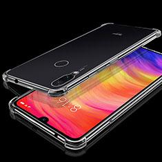 Custodia Silicone Trasparente Ultra Sottile Cover Morbida H01 per Xiaomi Redmi Note 7 Pro Chiaro