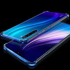 Custodia Silicone Trasparente Ultra Sottile Cover Morbida H01 per Xiaomi Redmi Note 8 Blu