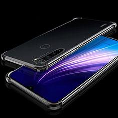 Custodia Silicone Trasparente Ultra Sottile Cover Morbida H01 per Xiaomi Redmi Note 8 Nero