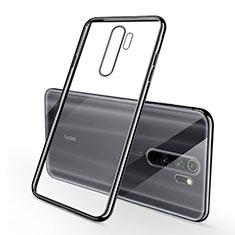 Custodia Silicone Trasparente Ultra Sottile Cover Morbida H01 per Xiaomi Redmi Note 8 Pro Nero