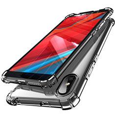 Custodia Silicone Trasparente Ultra Sottile Cover Morbida H01 per Xiaomi Redmi Y2 Grigio