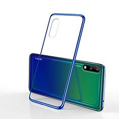 Custodia Silicone Trasparente Ultra Sottile Cover Morbida H02 per Huawei Enjoy 10 Blu