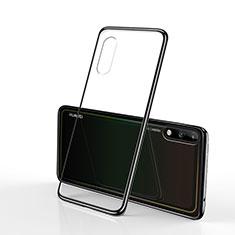 Custodia Silicone Trasparente Ultra Sottile Cover Morbida H02 per Huawei Enjoy 10 Nero