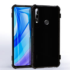 Custodia Silicone Trasparente Ultra Sottile Cover Morbida H02 per Huawei Enjoy 10 Plus Nero