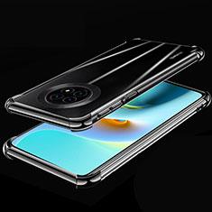 Custodia Silicone Trasparente Ultra Sottile Cover Morbida H02 per Huawei Enjoy 20 Plus 5G Nero