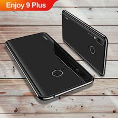 Custodia Silicone Trasparente Ultra Sottile Cover Morbida H02 per Huawei Enjoy 9 Plus Nero