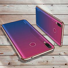 Custodia Silicone Trasparente Ultra Sottile Cover Morbida H02 per Huawei Enjoy 9 Plus Oro Rosa