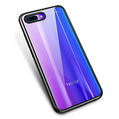 Custodia Silicone Trasparente Ultra Sottile Cover Morbida H02 per Huawei Honor 10 Nero