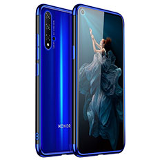 Custodia Silicone Trasparente Ultra Sottile Cover Morbida H02 per Huawei Honor 20 Blu