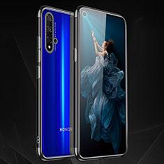 Custodia Silicone Trasparente Ultra Sottile Cover Morbida H02 per Huawei Honor 20 Nero