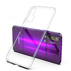 Custodia Silicone Trasparente Ultra Sottile Cover Morbida H02 per Huawei Honor 20 Pro Chiaro