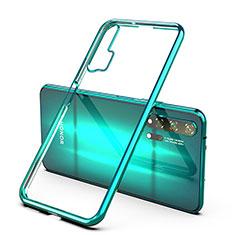 Custodia Silicone Trasparente Ultra Sottile Cover Morbida H02 per Huawei Honor 20 Pro Verde