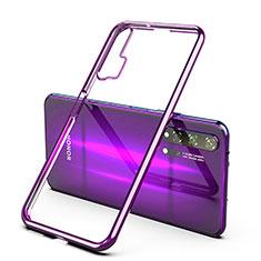 Custodia Silicone Trasparente Ultra Sottile Cover Morbida H02 per Huawei Honor 20 Pro Viola