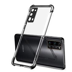 Custodia Silicone Trasparente Ultra Sottile Cover Morbida H02 per Huawei Honor 30 Pro Nero