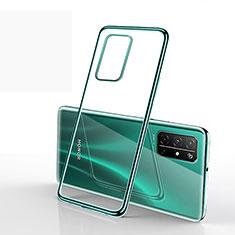 Custodia Silicone Trasparente Ultra Sottile Cover Morbida H02 per Huawei Honor 30S Verde