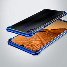 Custodia Silicone Trasparente Ultra Sottile Cover Morbida H02 per Huawei Honor 8X Max Blu