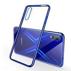 Custodia Silicone Trasparente Ultra Sottile Cover Morbida H02 per Huawei Honor 9X Blu