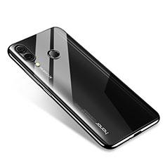 Custodia Silicone Trasparente Ultra Sottile Cover Morbida H02 per Huawei Honor Note 10 Nero