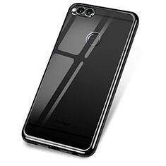 Custodia Silicone Trasparente Ultra Sottile Cover Morbida H02 per Huawei Honor Play 7X Nero