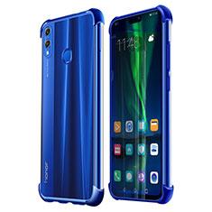 Custodia Silicone Trasparente Ultra Sottile Cover Morbida H02 per Huawei Honor V10 Lite Blu