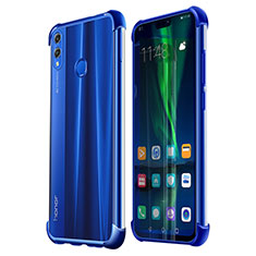 Custodia Silicone Trasparente Ultra Sottile Cover Morbida H02 per Huawei Honor View 10 Lite Blu