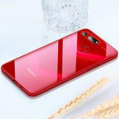 Custodia Silicone Trasparente Ultra Sottile Cover Morbida H02 per Huawei Honor View 20 Rosso
