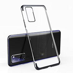 Custodia Silicone Trasparente Ultra Sottile Cover Morbida H02 per Huawei Honor View 30 Pro 5G Nero