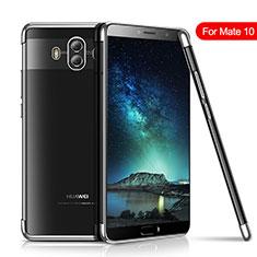 Custodia Silicone Trasparente Ultra Sottile Cover Morbida H02 per Huawei Mate 10 Argento