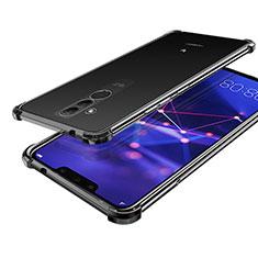 Custodia Silicone Trasparente Ultra Sottile Cover Morbida H02 per Huawei Mate 20 Lite Nero