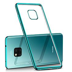 Custodia Silicone Trasparente Ultra Sottile Cover Morbida H02 per Huawei Mate 20 Pro Verde