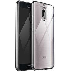 Custodia Silicone Trasparente Ultra Sottile Cover Morbida H02 per Huawei Mate 9 Pro Argento
