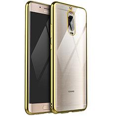 Custodia Silicone Trasparente Ultra Sottile Cover Morbida H02 per Huawei Mate 9 Pro Oro