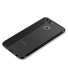 Custodia Silicone Trasparente Ultra Sottile Cover Morbida H02 per Huawei Nova 2 Plus Nero