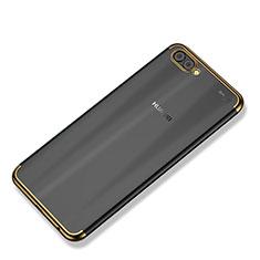 Custodia Silicone Trasparente Ultra Sottile Cover Morbida H02 per Huawei Nova 2S Oro