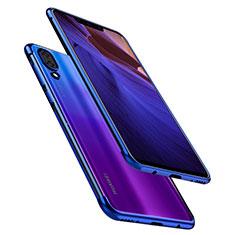 Custodia Silicone Trasparente Ultra Sottile Cover Morbida H02 per Huawei Nova 3 Blu