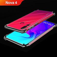 Custodia Silicone Trasparente Ultra Sottile Cover Morbida H02 per Huawei Nova 4 Nero