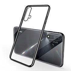Custodia Silicone Trasparente Ultra Sottile Cover Morbida H02 per Huawei Nova 5 Nero