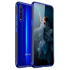 Custodia Silicone Trasparente Ultra Sottile Cover Morbida H02 per Huawei Nova 5T Blu