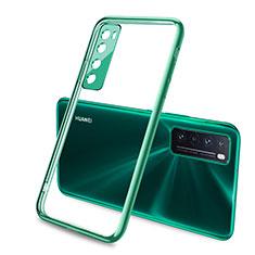 Custodia Silicone Trasparente Ultra Sottile Cover Morbida H02 per Huawei Nova 7 5G Verde