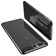 Custodia Silicone Trasparente Ultra Sottile Cover Morbida H02 per Huawei P10 Nero