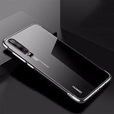 Custodia Silicone Trasparente Ultra Sottile Cover Morbida H02 per Huawei P30 Argento