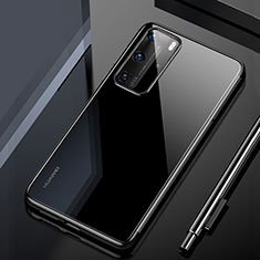 Custodia Silicone Trasparente Ultra Sottile Cover Morbida H02 per Huawei P40 Pro Nero