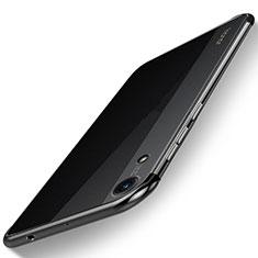 Custodia Silicone Trasparente Ultra Sottile Cover Morbida H02 per Huawei Y6 (2019) Nero