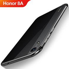 Custodia Silicone Trasparente Ultra Sottile Cover Morbida H02 per Huawei Y6 Prime (2019) Nero