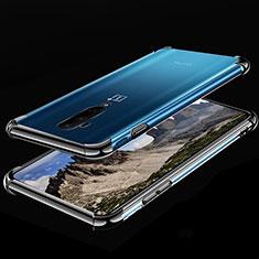 Custodia Silicone Trasparente Ultra Sottile Cover Morbida H02 per OnePlus 7T Pro Nero
