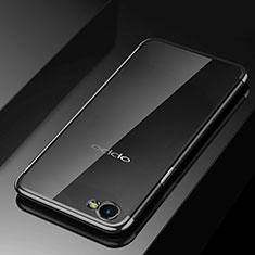 Custodia Silicone Trasparente Ultra Sottile Cover Morbida H02 per Oppo A3 Nero