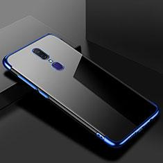 Custodia Silicone Trasparente Ultra Sottile Cover Morbida H02 per Oppo A9 Blu