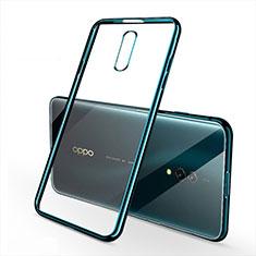 Custodia Silicone Trasparente Ultra Sottile Cover Morbida H02 per Oppo K3 Verde